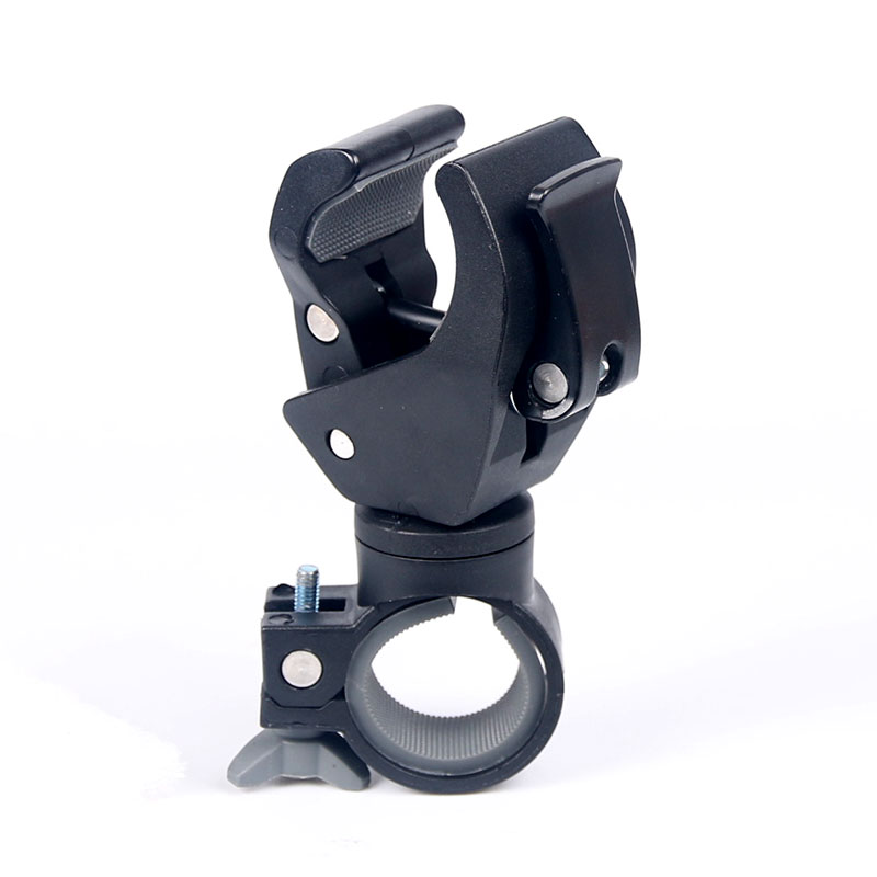 <font><b>Bicycle</b></font> <font><b>Light</b></font> Bracket 360 Degree Rotatable Bike Lamp Holder <font><b>T6</b></font> L2 Q5 <font><b>LED</b></font> Torch Headlight Mount Parts Handlebar Sound box Install image