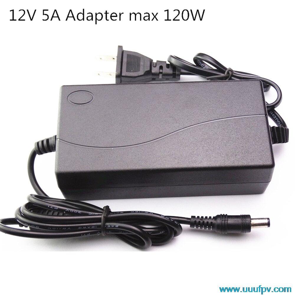 ЕС Plug AC адаптер конвертер для DC 12 В 5A Питание балансировки Зарядное устройство для 5050/3528 ЖК-мониторы IMAX B6 и ноутбука