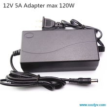 EU Plug AC Converter Adapter For DC 12V 5A Power Supply Balancer Charger for 5050/3528 LCD Monitors IMAX B6 & Laptop(China (Mainland))