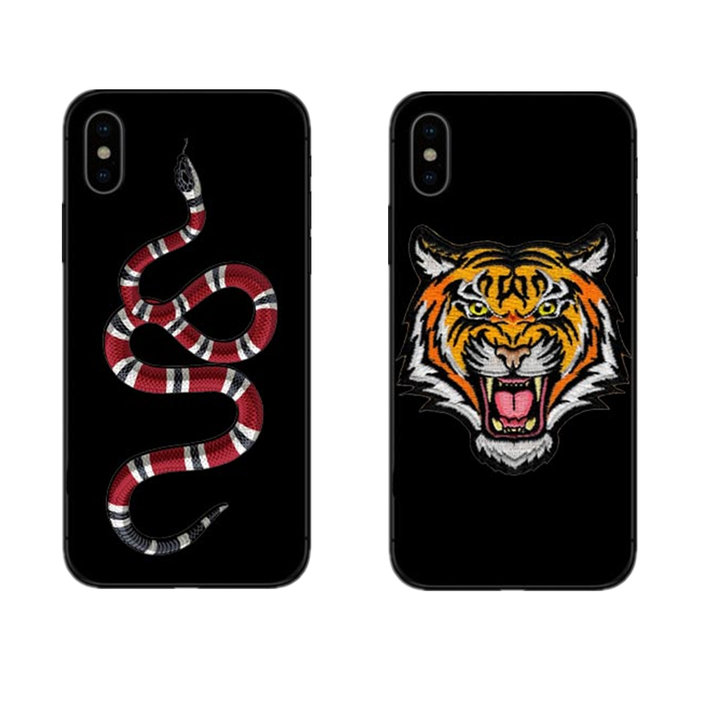 Fashion luxury Tiger Snake Soft silicon cover case for iphone 5s se 6 6S 7 8 Plus X 10 B ...