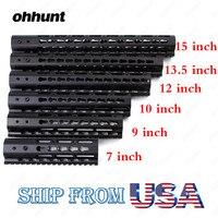 Ohhunt Slim Style 7 9 10 12 13 5 15 AR15 Free Float Keymod Handguard Picatinny