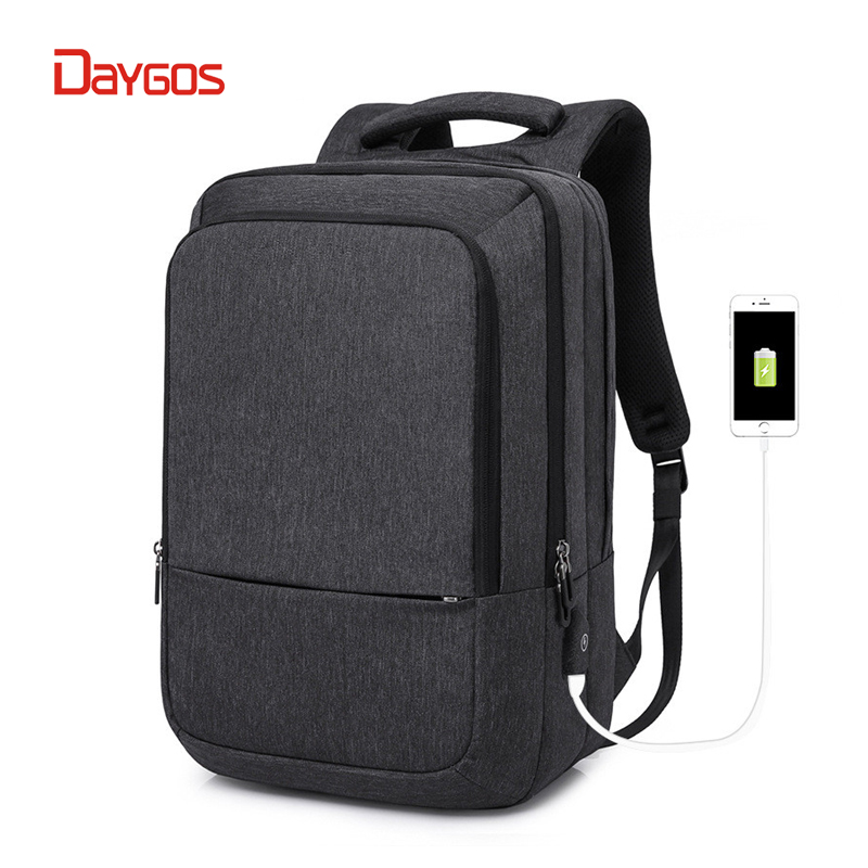 DAYGOS 2018 Women Men Backpack Anti Theft USB Charging Interface 17 inch Laptop Backpack School Backpack College Students Bag