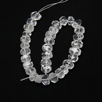 Full Strand Faceted Clear White Quartz Nugget Pendants Spacers Natural Stones Raw Crystals Cut Loose Beads