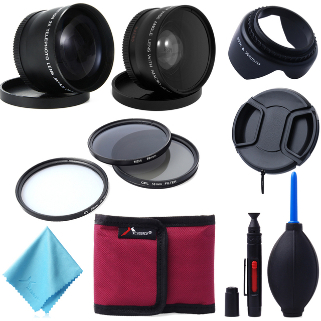 58mm Wide Angle Telephoto Lens Filter Kit For Canon 1100D 700D 600D LF420