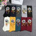 Sequins and hand-made sewing socks fashionista Europe new winter tube pile socks s diamond silver onion scoks