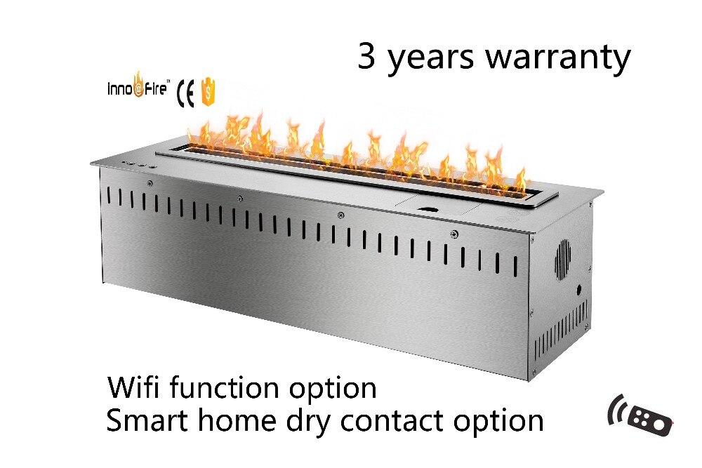 24 Inch  Intelligent Modern Black Or Silver Fireplace Bioetanol