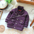 Baby boy outerwear top cardigan sweater spring and autumn sweater coat Children sweater kid's casual sweater