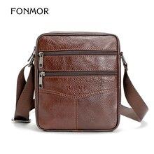 FONMOR Retro Vintage Leder Männer Messenger Bags Schulter kreuzkörper Beutel Patchwork Rind Bolsa