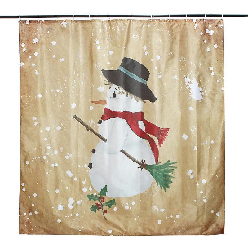 Frohe Weihnachten Weihnachtsmann Wasserdicht Bad Duschvorhang ...