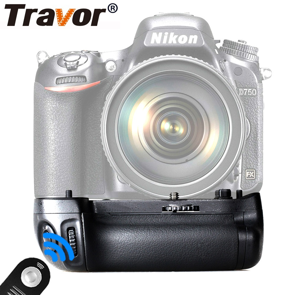 Travor Camera Vertical Battery Grip For NIKON DSLR D750 Battery Handle Replace MB D16 Gift Universal Remote-in Battery Grips from Consumer Electronics    1