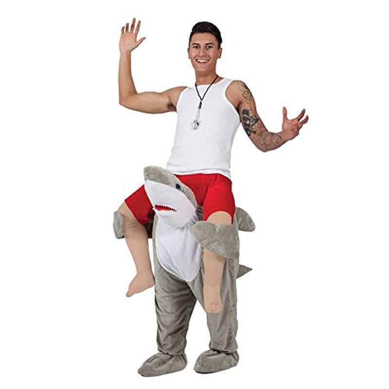 Requin Cosplay vêtements monter sur moi Costumes pour hommes femmes porter nouveauté équitation jouets Halloween fête de noël accessoires amusants