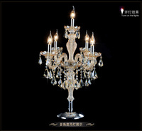 Luxury fashion 5 lights crystal table lamp bedroom lamp cognic color E14 candle crystal lamp wedding home decoration table light