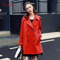 Quintina 2017 New Fashion Double Breasted Trench Coat Long Sleeve Plus Size Autumn Coat Women Trench Coat For Women