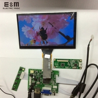 E&M 7 inch 1024*600 Capacitive Touch Screen 4 Point LCD Panel Module 720P HDMI VGA USB Car Raspberry Pi 3 Monitor Display