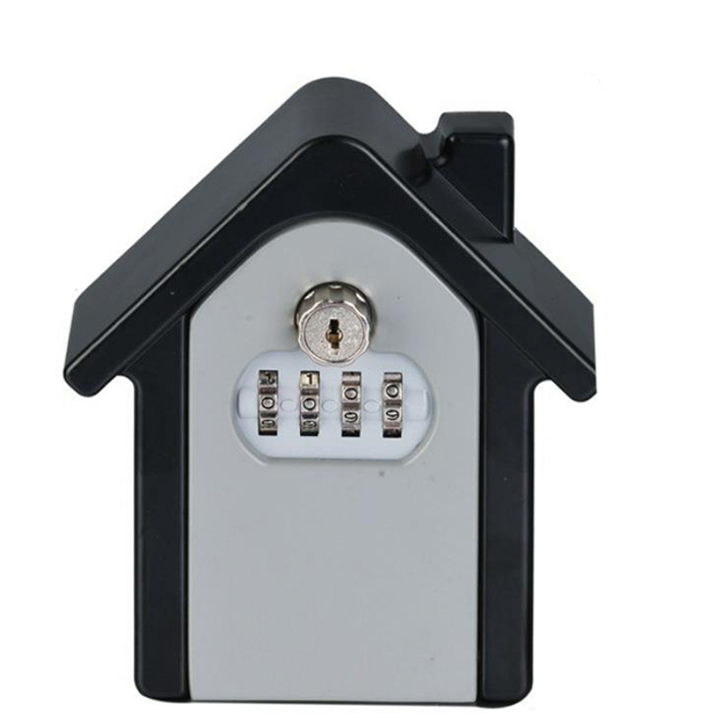 Password & Key Lock Security Storage Manager Box 4 Digit Password Metal Secret Safe Box Home Office Key Hidden Security DHZ017