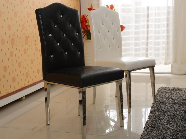 stainless steel dining room chairs | Hot Fashion Stainless steel+Leather dining chairs,fashion ...