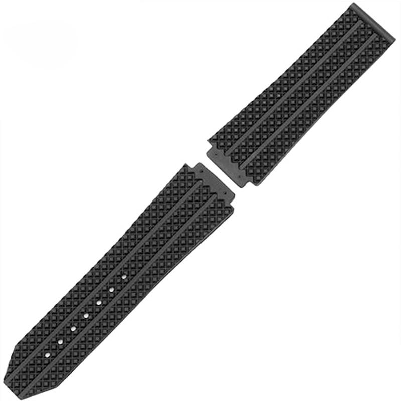 купить Brand-specific male strap for HUBLOT Hublot Rubber rubber strap watch accessories Black 25 * 19mm по цене 673.18 рублей