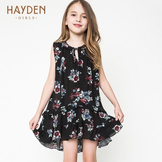 HAYDEN sundresses pour les adolescents de 13 ans fille robes d'été costumes jeunes filles ...