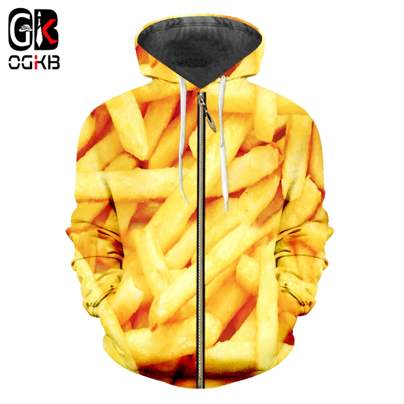 Men's Clothing French Fries 3d Pullover Tracksuit Casual Men Funny Print Hoodie Sweatshirt Plus Size 6xl Mens Streetwear Fitness Harajuku Tops