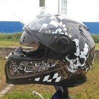 The new 2017 double lens helmet Motorcycle helmets motorcycle helmet bag mail