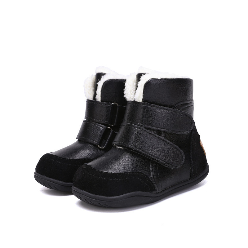 Fashion Flexible  Kids Boots For Winter Boys Shoes Girls Shoes Soft