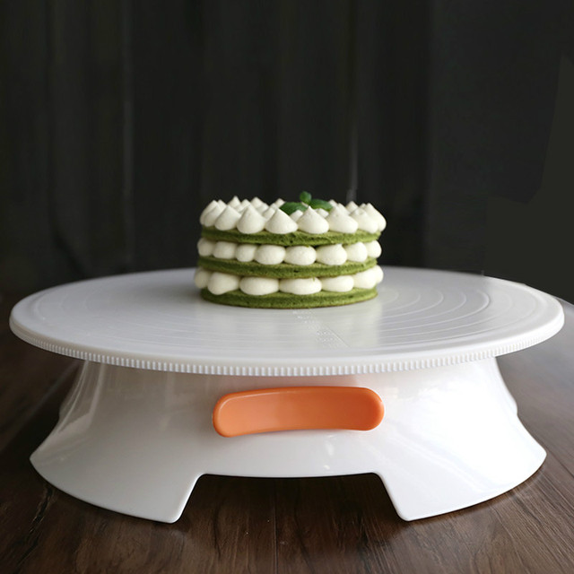 Plastic Cake Turntable Rotating Cake Decorating Turntable Anti-skid Round Cake Stand Cake Rotary Table & Plastic Cake Turntable Rotating Cake Decorating Turntable Anti skid ...