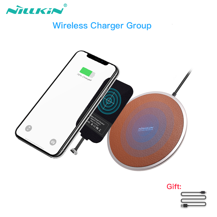 US $26 99 10% OFF|Nillkin wireless charging pad with wireless charger  receiver For xiaomi mi 8 for pocophone f1 one plus 6 for huawei P20 P20  Pro-in