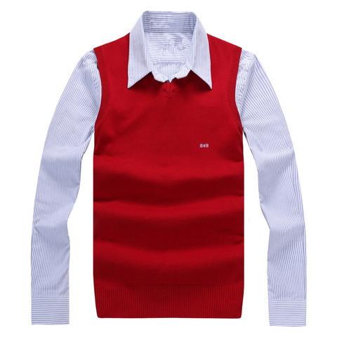 O novo 2016 marca sweater Eden park gola redonda masculino dinheiro coletes à prova de camisola de gola alta de lã colete de algodão Puro lazer 118 # M-