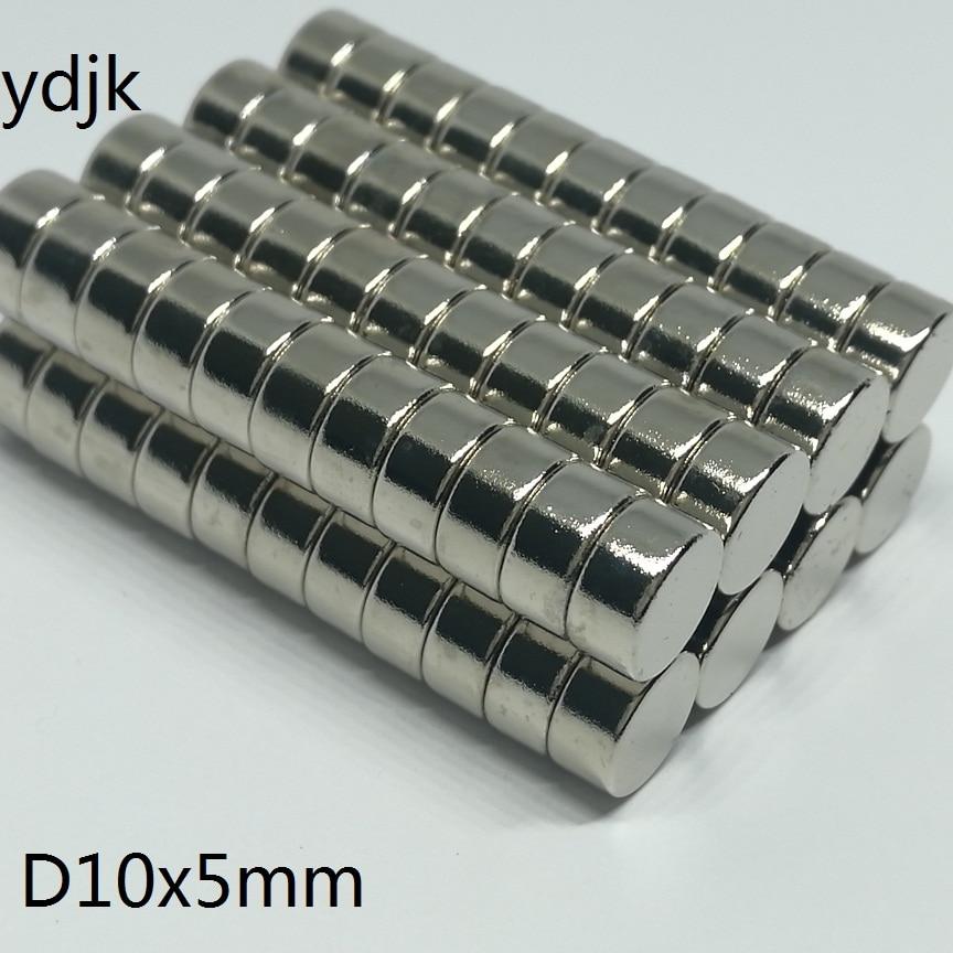 10 20 50 100PCS/LOT neodymium magnet 10*5 mm disc magnet 10x5 mm N38 strong magnet NdFeB magnets Dia 10mm x 5mm NiCuNi(China)