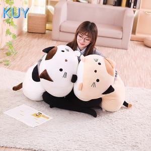 Image 3 - 60/90CM nowy Giant śliczne pluszowe zabawki wypchane zwierzę lalka piękny kot pies świnia Toroto Sofa poduszki poduszki dla dzieci uspokoić zabawki wystrój domu