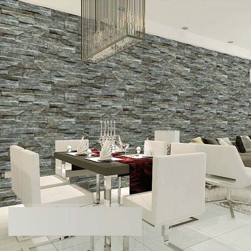 Compare prices on modern wallpaper wall coverings online - Papier peint fausse pierre ...