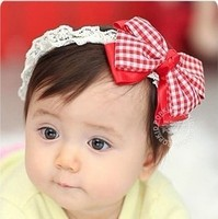 New Baby Girls Lace Hair Decor Bow Hairband Headband