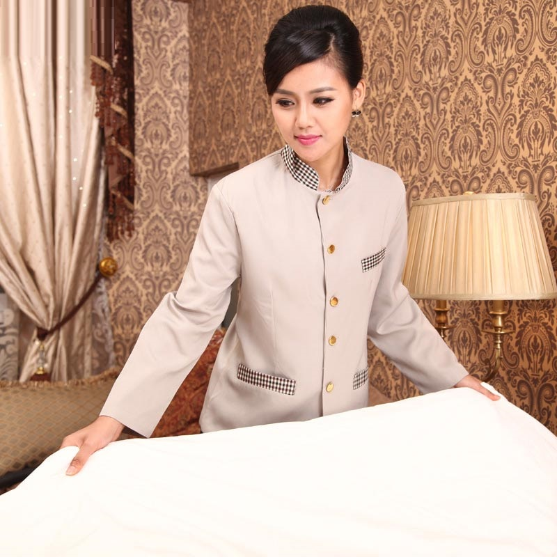 Work-Wear-Cleaners Pant Winter Long-Sleeve And Autumn Overalls Attendant Service Hotel