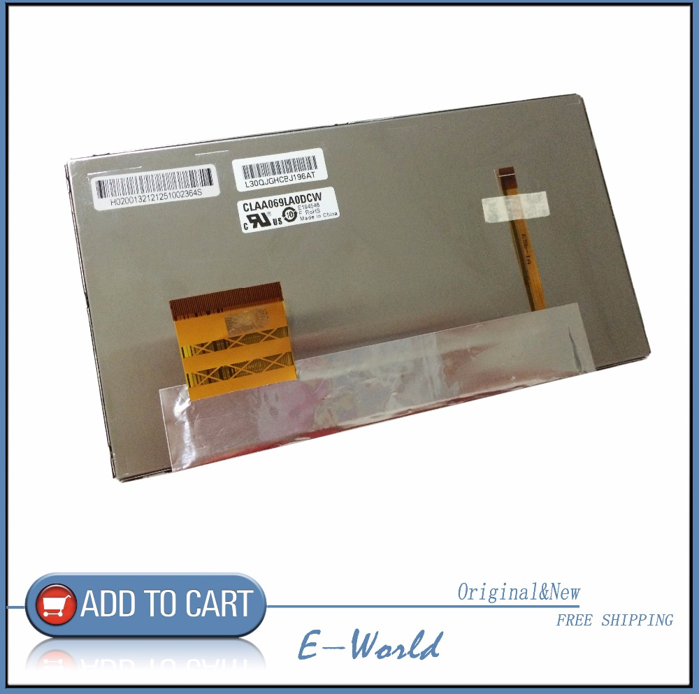 Original LCD screen CLAA069LA0DCW for tablet pc free shipping