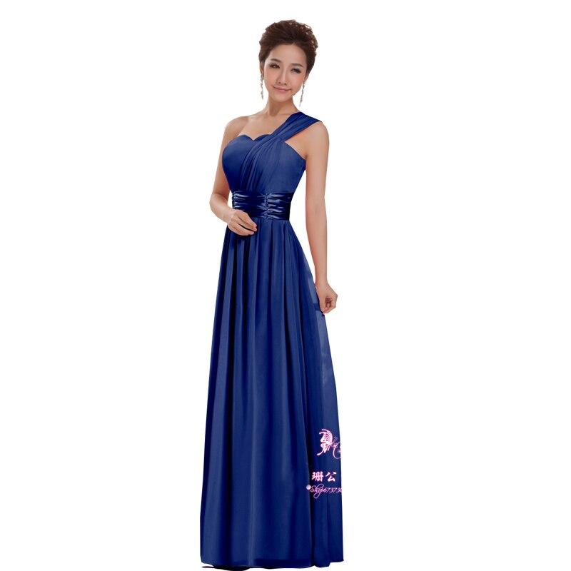 Wholesale 2016 New Bride Evening Dress Vintage Shoulder: New 2016 Cheap Long Bridesmaid Dresses Design One Shoulder