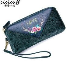 Newest Luxury Handbags Women's Day Clutches Genuine Leather Clutch Bag Fashion Printing Female Zipper Purse Phone Pocket Wallets цена в Москве и Питере
