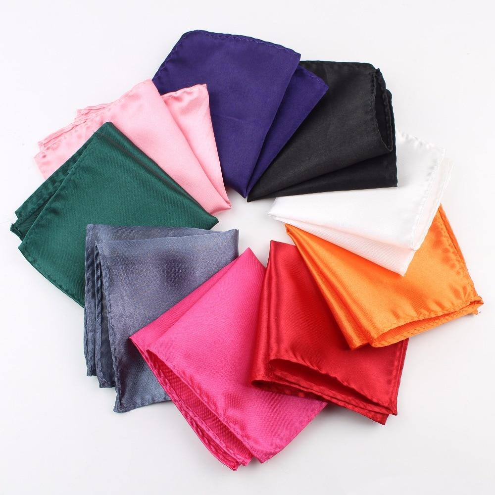 Solid Color Vintage Fashion Party Men's Handkerchief Groomsmen Men Pocket Square Hanky 21*21cm