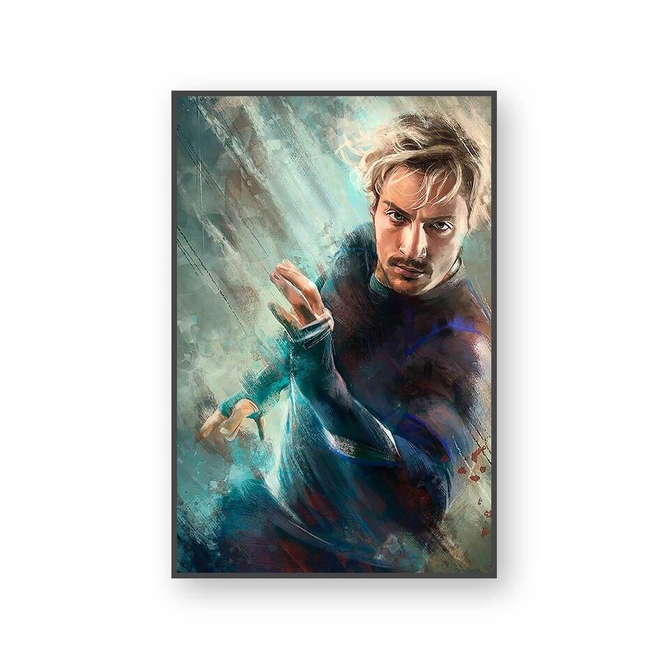 Настенный художественный холст с печатью постера, настенные картины для домашнего декора, Марвел, Мстители, фильм супергерой, Дэдпул, Железный Человек-паук, Локи - Цвет: L394M