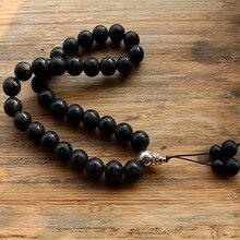 Black Stone Bead 33 Gebed Kralen Islamitische Moslim Tasbih Allah Mohammed Rozenkrans voor vrouwen mannen