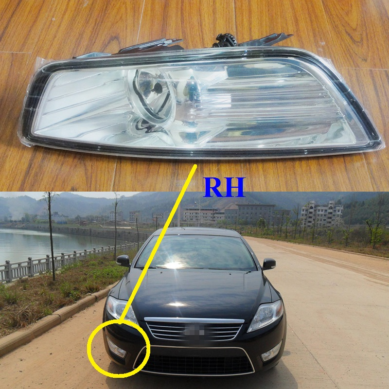 1 Piece RH with bulb Front bumper Fog light driving fog lamp for Ford Mondeo 2007-2010 1pcs new oem rh front bumper fog lamp fog light for kia sportage 2014 2015
