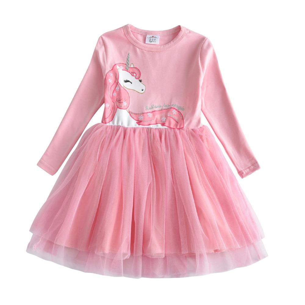 HTB1 PlpQwHqK1RjSZJnq6zNLpXam VIKITA Girls Dress Long Sleeve Kids Flower Dresses Children Unicorn Vestidos 2019 Girls Dresses Autumn Kids Dress For Girl