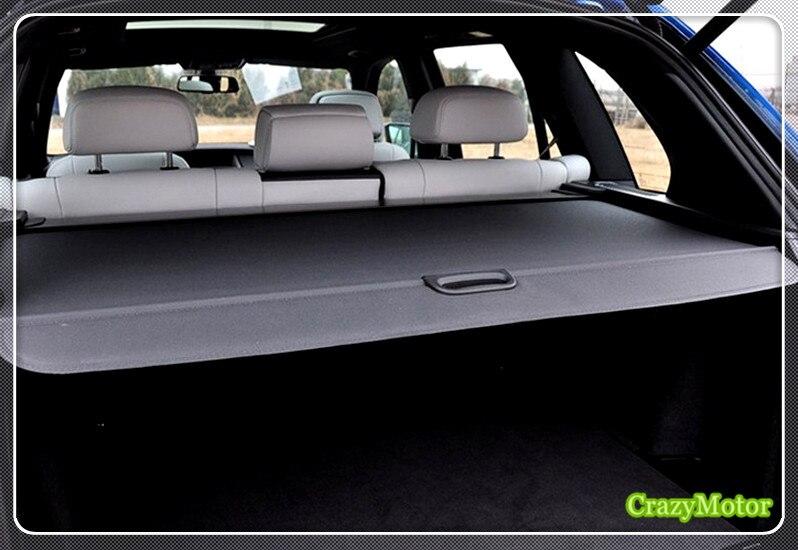Noir Beige voiture coffre arrière bagages colis étagère Cargo couverture pour BMW X5 2008 2009 2010 2011 2012 2013 2014 2015 2016 accessoires