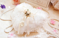 Free Shipping Noverty 1PCS Wedding Favors Ring Pillow 3D Heart Design Very Special Unique Ring
