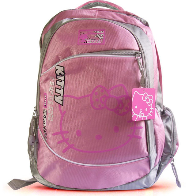 Free shipping 2015 Hot sale hello kitty school bag travelling bag Cartoon Satchel for student Outdoor backpack Fashion back bags