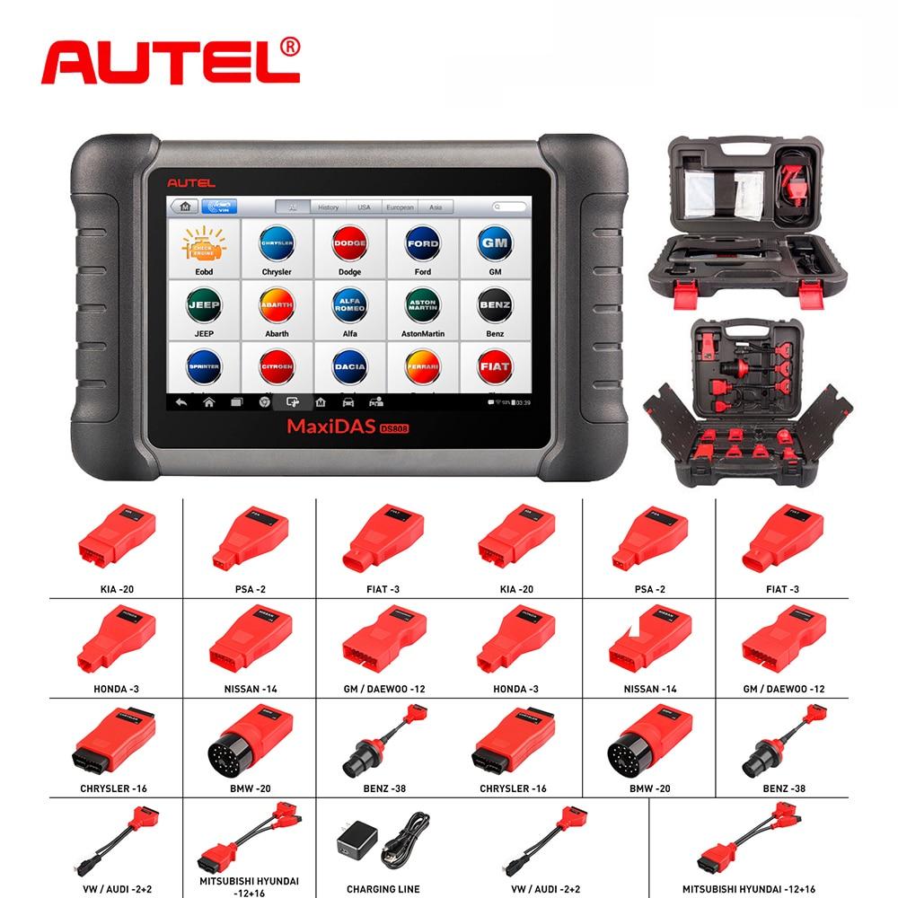 New Autel DS808K Car Diagnostic Tool DIY Kit OBD Cable OBD2 Automotive  Scanner Diagnosis Functions of EPB//DPF/SAS/TPMS WIFI