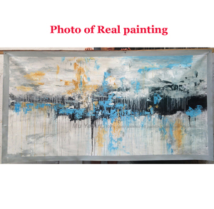 Image 5 - Abstract art painting modern wall art canvas pictures large wall paintings handmade oil painting for living room wall decor art
