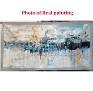 Image 5 - Abstrakte kunst malerei moderne wand kunst leinwand bilder große wand gemälde handgemachte ölgemälde für wohnzimmer wand dekor kunst