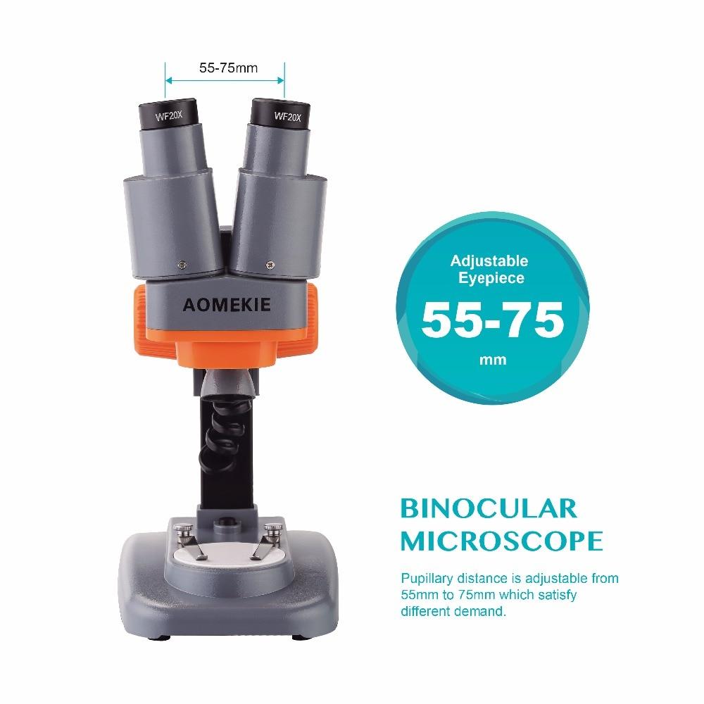 AOMEKIE 40X Verrekijker Stereo Microscoop Top LED PCB Soldeersel - Meetinstrumenten - Foto 4