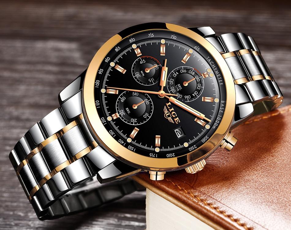 HTB1 PmNfaLN8KJjSZFKq6z7NVXaE - LIGE Mens Watches Top Brand Luxury Business Quartz Watch stainless steel Strap Casual Waterproof Sport Watch Relogio Masculino