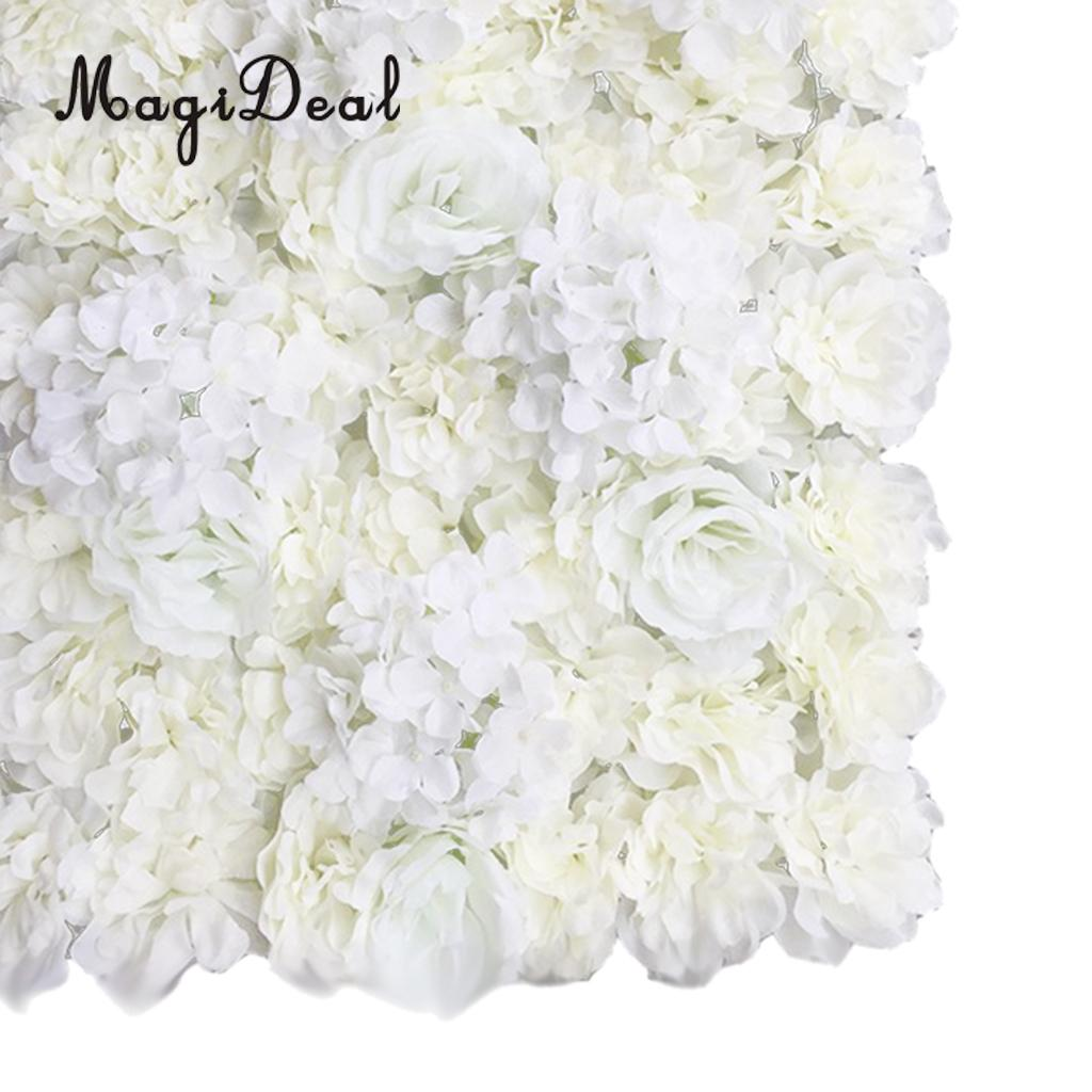 MagiDeal 8 Pieces Artificial Flowers Wall Wedding Flower Pillar Main Road Decor 60 x 40cm